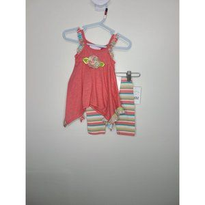 NWT Bonnie Baby 2 piece striped pants and tank top